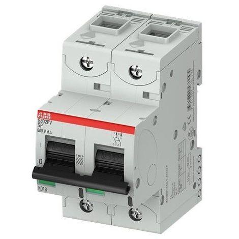 Disjoncteur 63A 2P 5KA special photovoltaïque tension DC S802PV-SP63 ABB G147135
