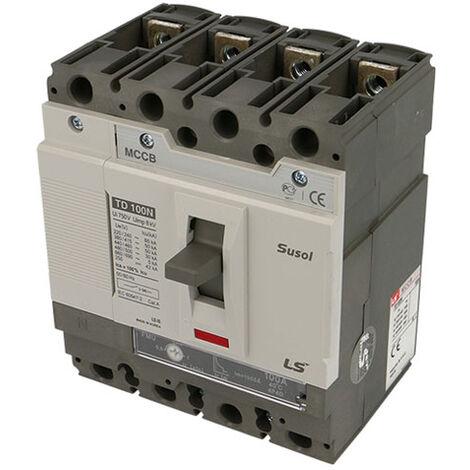 Disjoncteur boitier moulé tétrapolaire 4P/4D 100A