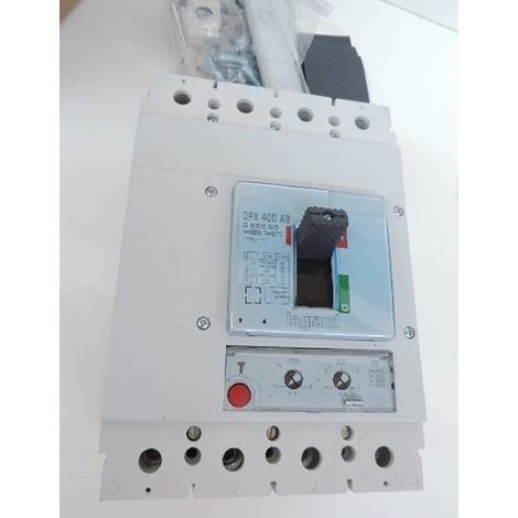 Disjoncteur de branchement 400A 4P tétrapolaire 36kA version EDF sans mesure DPX 400AB LEGRAND 025595