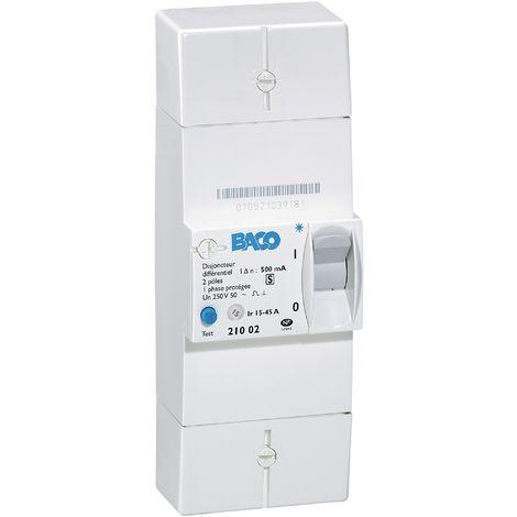 Disjoncteur de branchement EDF Legrand - Blanc - Différentiel 500 mA