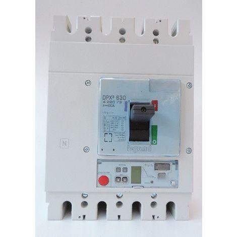 Disjoncteur de puissance 400A 4P électroniques S2 50kA bornes vis DPX3 630 LEGRAND 422073