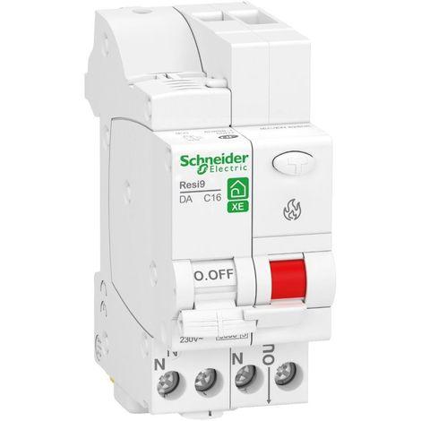 Disjoncteur detecteur d'arc electrique 16A 1P+N courbe C 3kA 2M systeme embrochable sur distri'Clic Resi9 XE SCHNEIDER R9ETC616