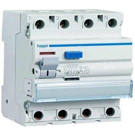 Disjoncteur différentiel 4P 40A 300MA AC 4 modules CFC440H