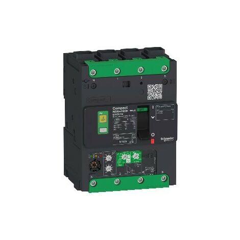 Disjoncteur différentiel avec déclencheur électronique Compact NSXm B (25kA) - 3P+N - Micrologic 4.1 - 100A