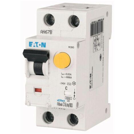 """Disjoncteur différentiel courant Eaton FRBM6 32A 1P+N 30MA AC """" 6 177801"""