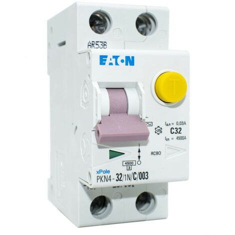 Disjoncteur différentiel courant Eaton MD1N32 32A 1P+N 0,03 AC 4.5 KW 237161