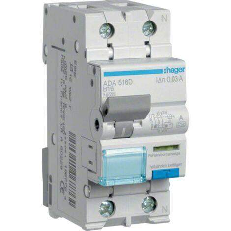 Disjoncteur différentiel/Disjoncteur de protection Hager ADA516D ADA516D 1 pôle 16 A 0.03 A 240 V 1 pc(s)