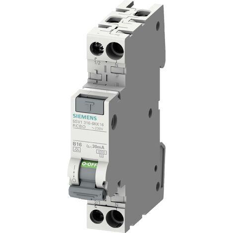 Disjoncteur différentiel/Disjoncteur de protection Siemens 5SV1316-7KK13 5SV13167KK13 2 pôles 13 A 0.03 A 230 V 1 pc(s) C094551