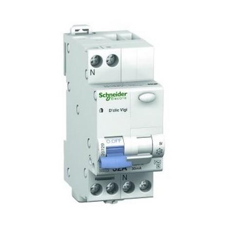 Disjoncteur modulaire 25A Multi 9 DT40N 1 p/ôle plus N courbe D