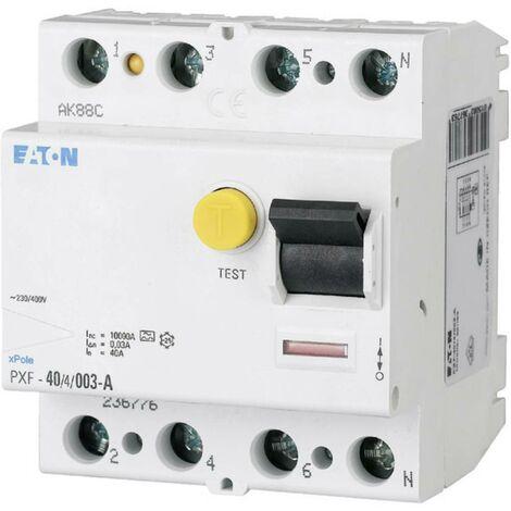 Disjoncteur différentiel Eaton 236804 4 pôles 63 A 0.3 A 400 V/AC 1 pc(s)