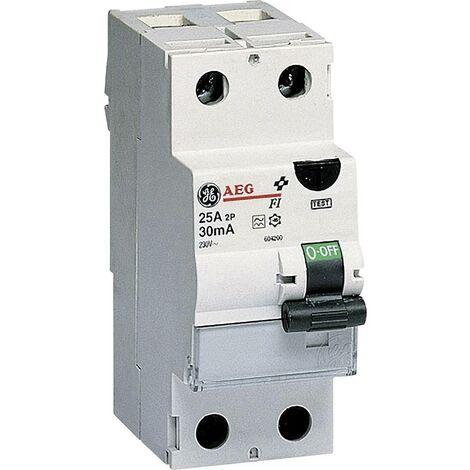 Disjoncteur différentiel General Electric 604200 2 pôles 25 A 0.03 A 230 V 1 pc(s)