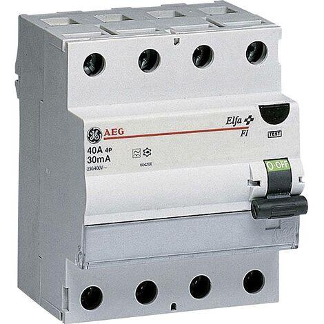 Disjoncteur différentiel General Electric 604208 4 pôles 40 A 0.03 A 400 V 1 pc(s)