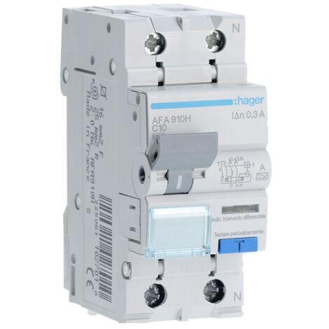 Disjoncteur différentiel Hager 1P+N 300MA 10A AFA910H