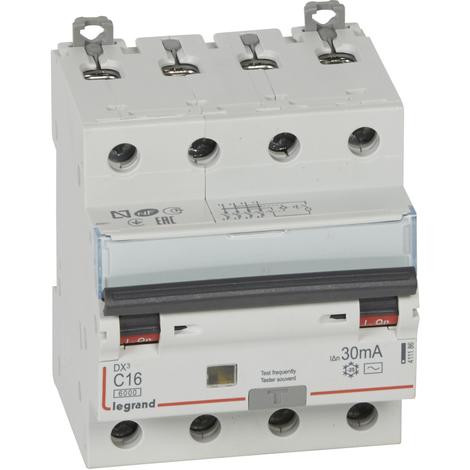 Disjoncteur différentiel monobloc DX³ 6000 - 10 kA courbe C, protection des départs Legrand