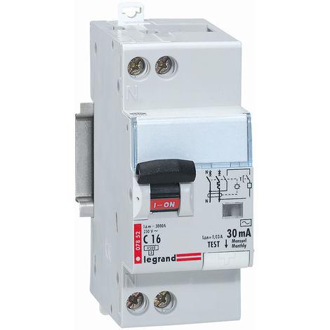 Disjoncteur différentiel Phase + Neutre - type AC - 30mA - 16A - 2 modules