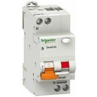 Disjoncteur différentiel Schneider 1P+N 16A 30MA 4.5 KA DOMC45C1630C