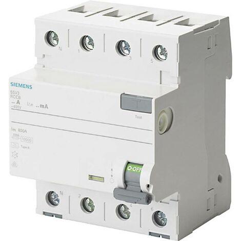 Disjoncteur différentiel Siemens 5SV3344-6KL 4 pôles 40 A 0.03 A 400 V 1 pc(s)