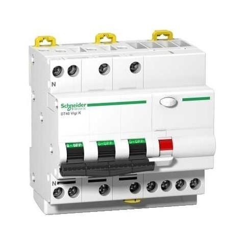 Disjoncteur différentiel Vigi K DT40 3P+N non auxiliarisable 4,5kA - 30mA - Type AC - 16A