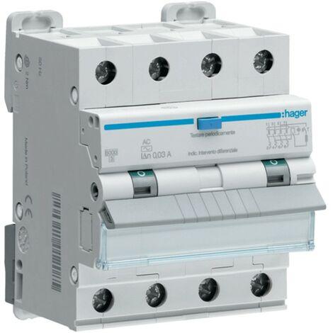 Disjoncteur Disjoncteur Hager 4P 40A 300MA AFP490H