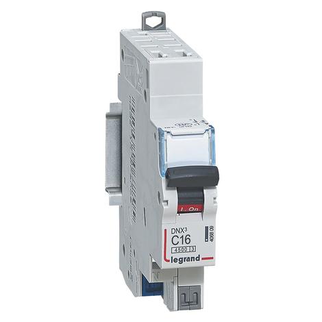 Disjoncteur DNX³ 4500 - auto/auto - U+N 230V~ 16A - 4,5kA - courbe D - 1 mod