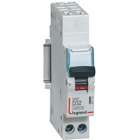 Disjoncteur DNX³ 4500 - auto/auto - U+N 230V~ 32A - 4,5kA - courbe D - 1 mod