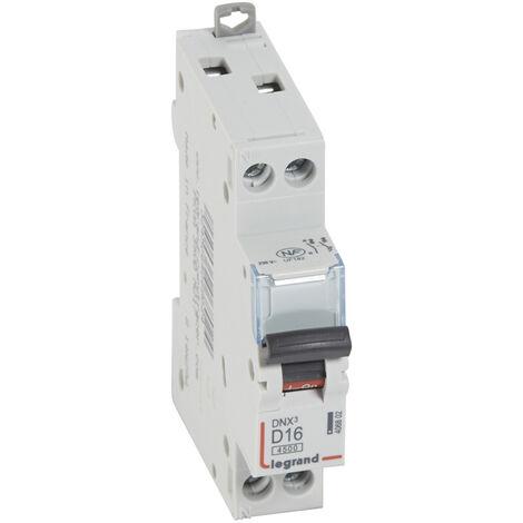 Disjoncteur DNX³ 4500 - vis/vis - U+N 230V~ 16A - 4,5kA - courbe D - 1 mod