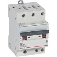 Disjoncteur DX³ 4500 - vis/vis - 3P - 400 V~ - 25A - 6kA - courbe C - 1 mod