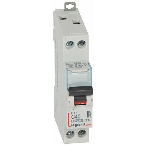 Disjoncteur DX³ 4500 - vis/vis - U+N 230V~ 40A - 6kA - courbe C - 1 mod