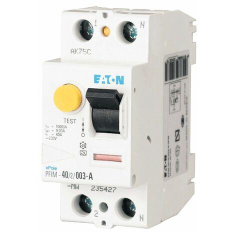 Disjoncteur Eaton pur 25A 2P 30MA type AC 235390