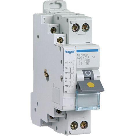 Disjoncteur fil pilote 1p+n 3ka c-25a 1.5 module