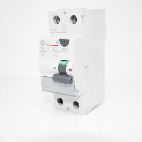 Disjoncteur GE 40A 30mA Type 2P 604006