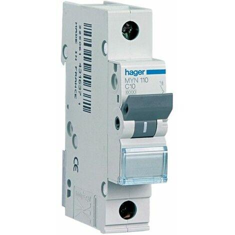 Disjoncteur Hager 1P 25A 4.5 KA C 1 formulaire MYN125