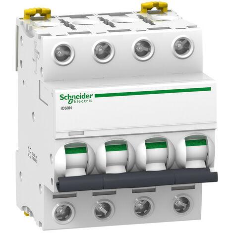 Disjoncteur IC60N 4P 10A Courbe D Schneider Electric ACTI 9