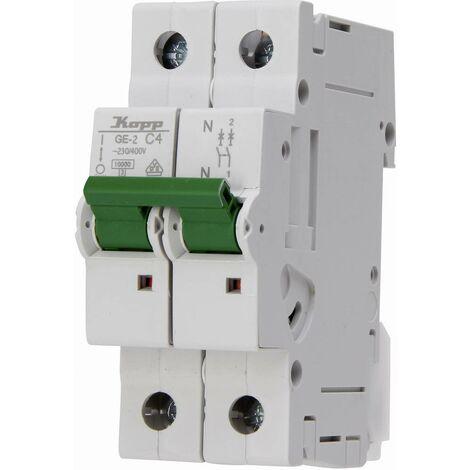 Disjoncteur Kopp 720411005 monophasé 4 A 400 V, 230 V 1 pc(s)