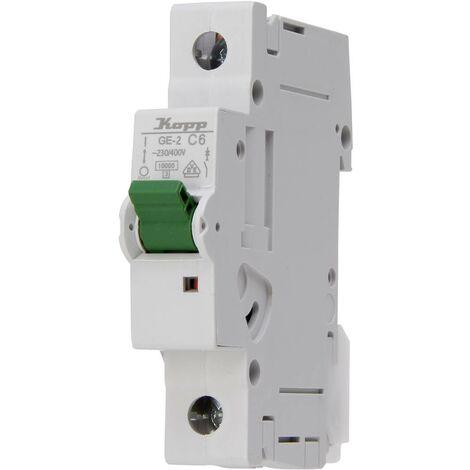 Disjoncteur Kopp 720601004 monophasé 6 A 400 V 1 pc(s)