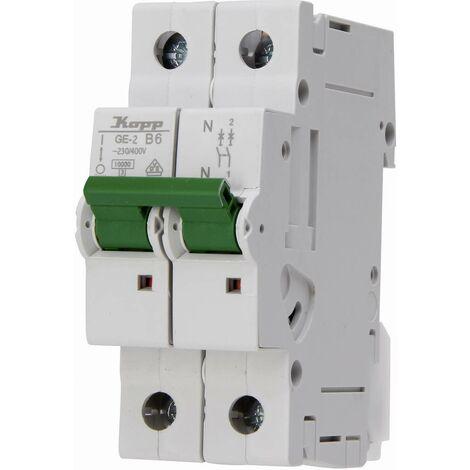 Disjoncteur Kopp 720610000 monophasé 6 A 230 V 1 pc(s)