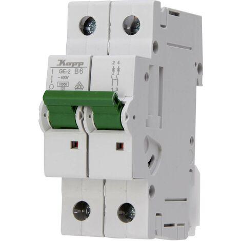 Disjoncteur Kopp 720620007 6 A 400 V 1 pc(s)
