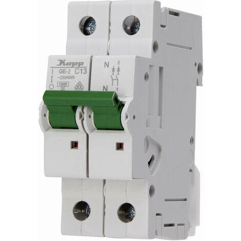 Disjoncteur Kopp 721311003 monophasé 13 A 400 V, 230 V 1 pc(s)