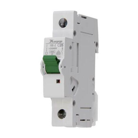 Disjoncteur Kopp 722501003 monophasé 25 A 400 V 1 pc(s)
