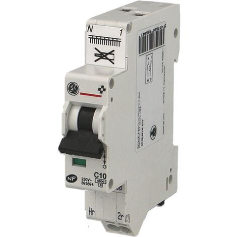 Disjoncteur modulaire automatique phase neutre 2A - 4.5kA