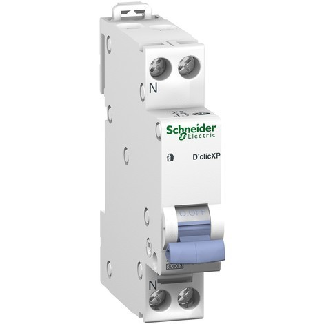 Disjoncteur modulaire Resi9 XP - 1P+N - 10A - Courbe C - Peignable - Schneider Electric