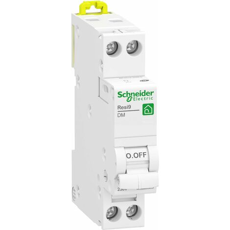 Disjoncteur modulaire Resi9 XP - 1P+N - 16A - Courbe C - Peignable - Schneider Electric