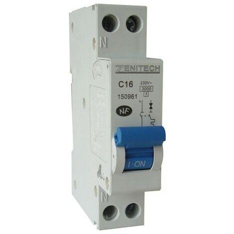 Disjoncteur PH/N - NF - 2, 10, 16, 20, 25 ou 32A