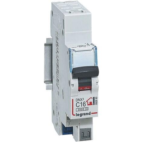 Disjoncteur Phase + Neutre - 16A - bornes automatiques - 1 module