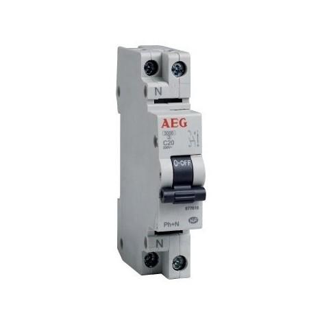 Disjoncteur phase+neutre AEG