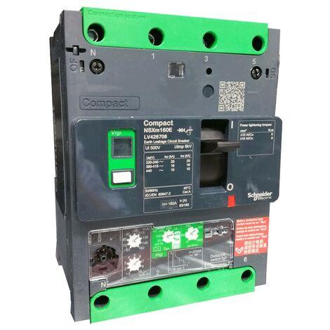 Disjoncteur Schneider boîtier moulé circuit 160A NSXM 16KA 4P LV426708