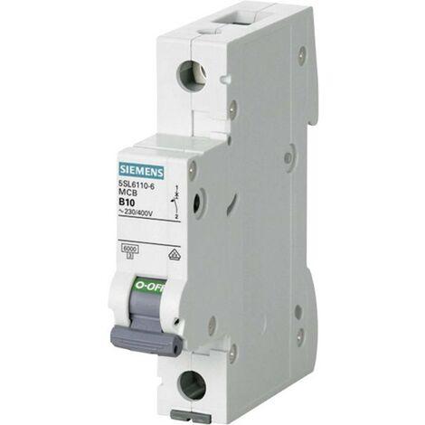Disjoncteur Siemens 5SL6110-6 1 pôle 10 A 230 V, 400 V 1 pc(s)