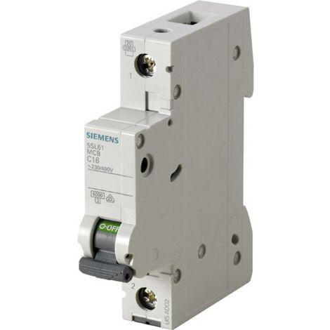 Disjoncteur Siemens 5SL6116-7 1 pôle 16 A 230 V, 400 V 1 pc(s)