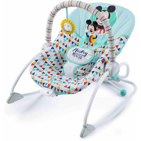 Disney Baby Mickey Mouse Happy Triangles Infant to Toddler Rocker