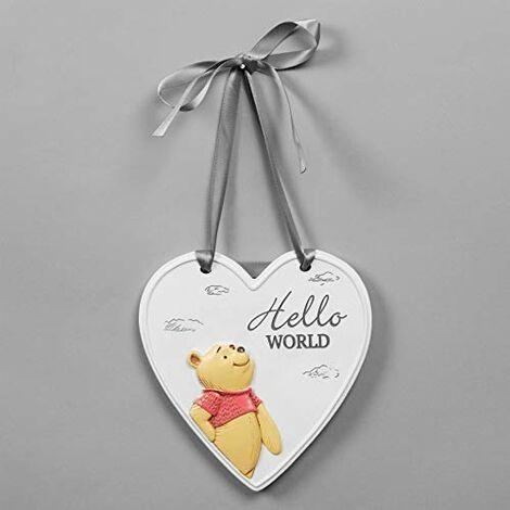 Disney Christopher Robin Relief Heart Hello World Plaque
